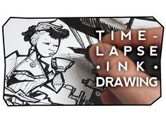 Speedy Steampunk Tea Party Drawing - YouTube