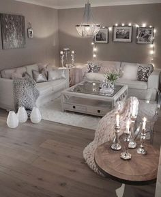 42 secret weapon for modern house design interior living rooms decorating ideas 6 - Home Interior Design - Glam Living Room, Living Room Decor Cozy, Elegant Living Room, New Living Room, Interior Design Living Room, Decor Room, Bedroom Decor, Living Room With Grey Walls, Wall Decor
