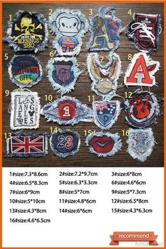Jeans patches Sew on Patches Jacket patches Patches for cloth and hat Patchwork Punk embroidered patches Punk patches patches punk sew on patches Eagle letter jacket patches patches for clothes morale patches army unit patches army patches