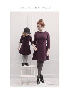 Made in Lithuania. www.happeak.eu Burgundy wool dress.  #fashion #clothing #kids #women's #design #creative #winter #happeak #2015 #ericajennings #marlasingerphotography