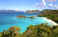 Resting between the Caribbean and the North Atlantic Ocean, you can find the Virgin Islands.  Visit these tropical islands and you'll have all the sun, sea and surf you could dream of and plenty of beautiful terrain to explore or just admire.
