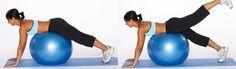 Упражнения на фитнес мяче для похудения видео