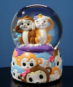 Another great find on #zulily! Monkey Musical Water Globe by The San Francisco Music Box Company #zulilyfinds