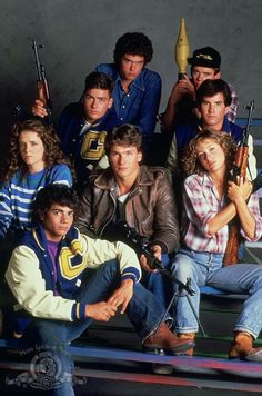Red Dawn 80s movie - Patrick Swayze, Charlie Sheen, Jennifer Grey