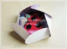 Hattifant Ladybird & Butterfly Pop Up Card Unfolding