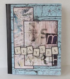 Rustic Brick And Paint Prayer Journal With Psalm Scripture  by stufffromtrees on Etsy