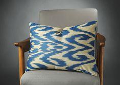 Blue Ikat Pillow, Bl