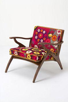 Inge Chair, Vintage Suzani #anthropologie