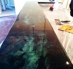 Diy Concrete Countertops Kits New Epoxy Floor Epoxy and Diy Countertops On Pinte. - nuttis - Diy Concrete Countertops Kits New Epoxy Floor Epoxy and Diy Countertops On Pinte… - Refinish Countertops, Diy Concrete Countertops, Epoxy Resin Countertop, Concrete Outdoor Table, Metallic Epoxy Floor, Best Flooring, Diy Flooring, Kit Homes, Diy Furniture