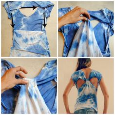 Trash To Couture: DIY T Shirt Refashion.