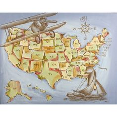 American Expedition Hand-Painted Canvas from PoshTots