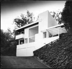 Exterior view of the Droste House, Los Angeles, 1940 :: Library Exhibits Collection Usc Library, University Of Southern California, Cinema Posters, Illuminated Manuscript, Digital Image, Black History, Paths, Art Decor, Exterior