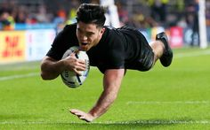 Nehe Milner-Skudder scores the first try of the Rugby World Cup Finals 2015 vs the Aussie Wallabies. 2015 Rugby World Cup, World Rugby, Kiwi, Black Beats, All Blacks Rugby, V Australia, World Cup Final, Supersport, Rugby Players