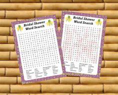 Printable Wedding  Bridal Shower Game  by TipsyFlamingoDesigns