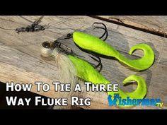 How To Tie a Three-way Fluke Rig - The Fisherman Magazine - YouTube