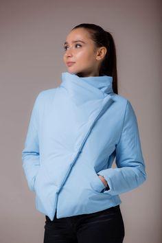 Куртка Утепленная Демисезонная Моделируемая Голубая Spring Jacket Blue в магазине «McNeedle» на Ламбада-маркете