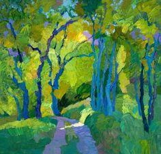 Larisa Aukon, In Wonderland by Larisa Aukon Oil ~ 40 x 42