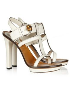 Gucci Bamboo Detail Leather Sandals