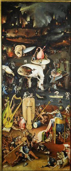 """"""" El Infierno"""". Hyeronimus Bosch, (1450 - 1516)"""