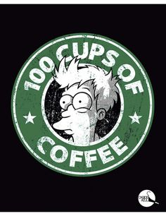 Camiseta 100 Cups Of Coffee