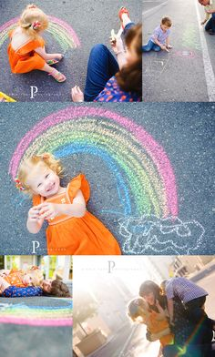 Michele at Pinkle Toes Photography does amazing work.  Would love to something similar to this rainbow picture someday.