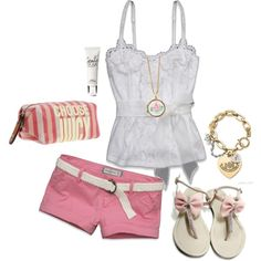 A fashion look from March 2012 featuring sexy shirts, embroidered shorts and flats sandals. Browse and shop related looks. Classy Outfits, Cute Outfits, Classy Clothes, Style Clothes, Colored Shorts Outfits, Girl Fashion Style, Fashion Outfits, Short Outfits, Dress To Impress