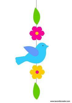 Preschool Crafts, Easter Crafts, Felt Crafts, Bird Crafts, Summer Crafts For Kids, Spring Crafts, Art For Kids, Hobbies And Crafts, Diy And Crafts