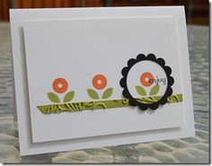 """Another card by Linda Keal. Clean & Simple. I have lots of small images that would work in this layout. Thinking nice for a gift packet of """"blank inside"""" note cards."""
