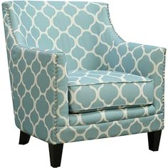 Picket House Furniture Aqua Deena Aster Chair ($280) ❤ liked on Polyvore featuring home, furniture and chairs