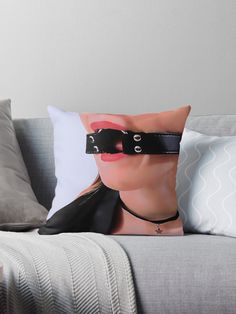 #Gag and #choker, #sexy #submissive posing • Also buy this artwork on #home #decor, apparel, stickers, and more. #erotic #fetish #bdsm #bondage #kinky #slave #sub #gagged #adult #bedroom