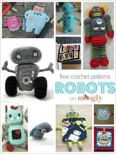 I love robots! And I'm not the only one - check out these 10 cute and cuddle free crochet robot patterns!