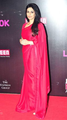 Tabu looked stunning in her pink saree at Life OK Screen Awards 2015.   #Bollywood #Fashion #Style #Beauty