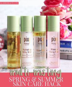 Find out why multi-misting is a perfect skin care hack for Spring & Summer, and my favorite face mists from Pixi to do it with!   Slashed Beauty