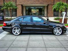 2009 mercedes e class amg lowered on 20s | Mercedes-Benz W211 E55 AMG on 20inch Vossen Wheels