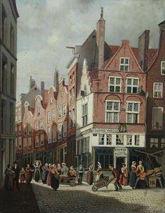 "Grotemarkt met ""Duizend Vreezen-huis"" Rotterdam, Earth, City, Travel, Paintings, Nostalgia, Viajes, Paint, Painting Art"