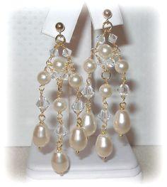 Cristallo Swarovski e perle orecchini di livelovebead su Etsy