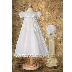 Cotton Christening Gown with Italian Lace (0-3 month)	$79.95 & FREE Shipping