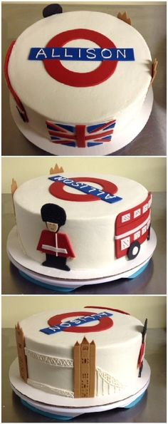London themed cake [Admit it... you've got that Elvis Costello song in your head now too, don't you! - MS]