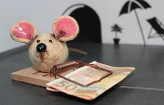 """Money gifts - Pottery """"mouse trap"""" (money gift) - a designer piece . - Money Gifts – Pottery """"Mouse Trap"""" (money gift) – a unique product by Ingrid_Oswald on DaWanda - Diy Bullet Journal, Pottery Courses, Pottery Store, Pottery Tools, Concrete Crafts, Art Courses, Ceramics Projects, Ceramic Clay, Creative Gifts"""