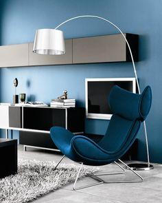 Imola chair and Volani entertainment unit - BoConcept