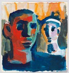Whitney Museum of American Art: David Park: Two Heads American Art, Expressionist Art, Bay Area Figurative Movement, Illustration Art, Art, True Art, Figurative Art, Portrait Art, American Artists