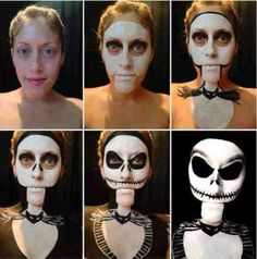 Funny pictures about Jack Skellington Halloween make up. Oh, and cool pics about Jack Skellington Halloween make up. Also, Jack Skellington Halloween make up. Halloween Look, Holidays Halloween, Costume Halloween, Halloween Crafts, Halloween Decorations, Halloween Party, Halloween Face Makeup, Creepy Halloween, Halloween 2013