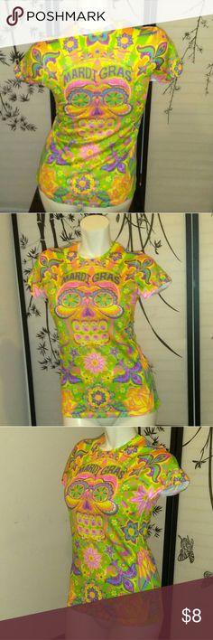 "Creative Apparel ""Mardi gras"" Mardi gras colorful tee creative apparel Tops"