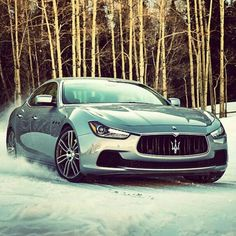 #Maserati #GranTurismo in the snow!