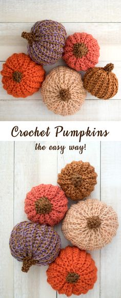 Video tutorial shows you how to crochet pumpkins the easy way! #crochet #crochetpattern