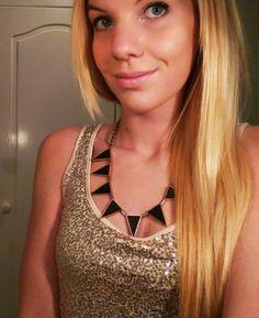 Just a quick selfie bevoe clubbing in my golden top.