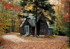 This rustic cabin is actually an artist's studio at the MacDowell Colony in New Hampshire. It's a place to just get away and create.
