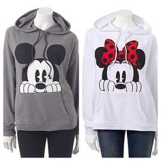 And now how about this cute Mickey and Minnie Mouse hoodie? They are so perfect…