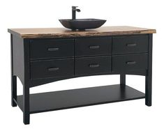 """The Campbell 60"""" Four-Drawer Bathroom Vanity Without Top Set up a new vanity with the gorgeous Campbell. Lots of storage space and a clean contemporary look. #bathroomvanity"""