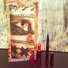 MAC Bundle MAC Forward Fashion Book • Contains different looks throughout book and helpful tips.    MAC Viva Glam Rihanna (Frost Lipstick) • Velvet Red Capsule  • Condition: Used (a few times)   This color is gorgeous when applied (swatch in picture above)  MAC Penultimate Eye Liner  • Rapid Black  • Condition: Used (once to test)  This eye liner is wonderful; It has just been sitting in my makeup bag; It wasn't a sharp enough look for me. (Swatched)   *ALL items have been sanitized with…